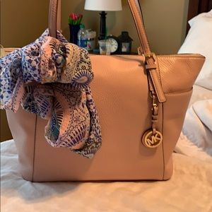 Michael Kors pebble leather tote and wallet